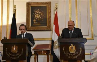 سامح شكرى يناقش مع وزير الخارجية الألمانى تطور الأوضاع بالمنطقة