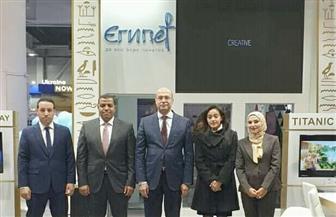 سفير مصر يفتتح الجناح المصري بمعرض أوكرانيا الدولي لسوق السفر