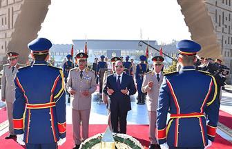 الرئيس السيسي يضع أكاليل الزهور على النصب التذكاري لشهداء القوات المسلحة بمناسبة ذكرى انتصارات أكتوبر  صور