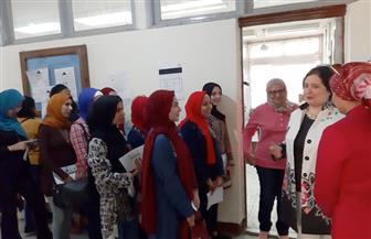 إقبال كبير على انتخابات اتحاد الطلاب بـ«بنات عين شمس» | صور