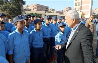 محافـظ المنوفية يشهد العروض الرياضية لطلبة المدرسة الثانوية الصناعية العسكرية|صور