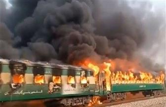 مقتل 13 شخصا في حريق بقطار جنوب باكستان