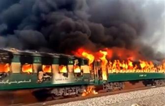 ارتفاع عدد ضحايا  حريق قطار في باكستان إلى 46 شخصا