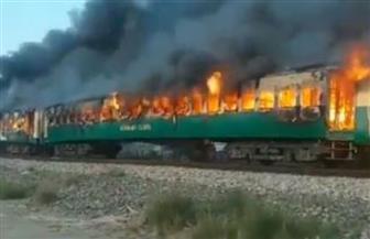 ارتفاع عدد ضحايا حريق قطار في باكستان إلى 73 شخصا