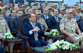 الرئيس السيسي: مشروعات القوات المسلحة ليس على حساب القطاع الخاص