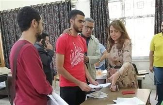 إقبال كبيرعلى انتخابات الطلاب بجامعة حلوان| صور