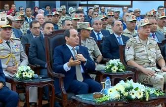 الرئيس السيسي: محاولات بث الفرقة والفوضى لن تنجح في إثناء الدولة عن القيام بدورها
