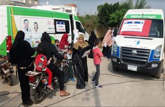 الكشف الطبي على 1700 مواطن في قرية مدين بدمياط | صور
