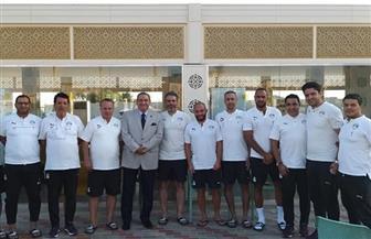 مدير أمن السويس يزور معسكر المنتخب الأوليمبي في السخنة | صور