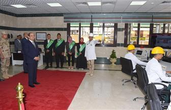 الرئيس السيسي يتفقد مصنع النصر للكيماويات الوسيطة بأبو رواش