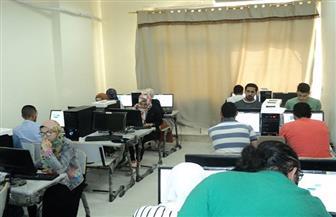 جامعة حلوان تنظم اختبارات إلكترونية لقياس مخرجات التعلم