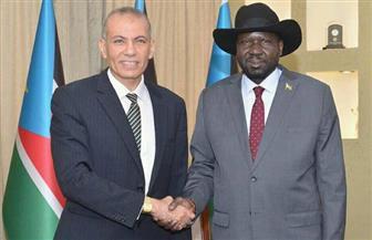 سلفا كير يستقبل السفير المصري بمناسبة انتهاء فترة مهمته في جوبا |صور