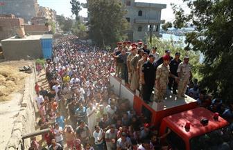 أهالي مركز مطوبس يشيعون جنازة الشهيد جلال الشامي