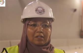 المهندسة عبير مرسي.. المرأة الوحيدة بين 6000 عامل في مشروع أنفاق بورسعيد