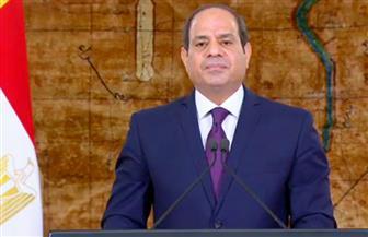 الرئيس السيسى: انتصار أكتوبر يمثل تعبيرا فريدا عن إرادة  وتماسك الشعب