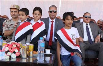 محافظ سوهاج يشهد طابور العرض بمدينة سوهاج الجديدة احتفالا بانتصارات أكتوبر | صور