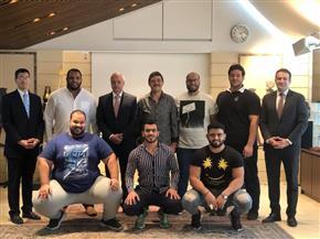 """بعثة المنتخب المصري تصل اليابان للمشاركة في بطولة العالم لـ """"السومو"""""""