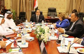"""""""حقوق الإنسان بالبرلمان"""" تبحث سبل التعاون مع مركز البحوث الإستراتيجية الإماراتي"""
