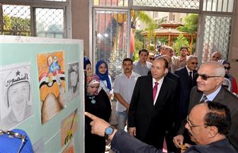 ندوة ومعرض فني بحقوق جامعة المنصورة احتفالا بانتصارات أكتوبر| صور
