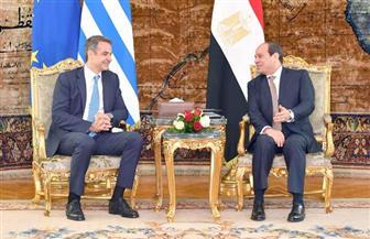 الرئيس السيسي يستقبل كرياكوس ميتسوتاكيس رئيس وزراء اليونان | صور