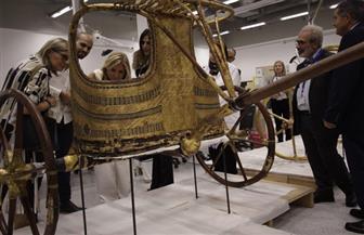 قرينة رئيس وزراء اليونان تزور المتحف المصري الكبير| صور