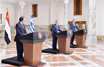 نص كلمة الرئيس السيسي خلال المؤتمر الصحفي بين مصر وقبرص واليونان