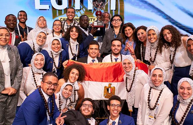 تحت رعاية اورنچ مصر.. فريق جامعة القاهرة يفوز ببطولة كأس العالم لـ إيناكتس  2019 -