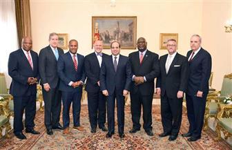 تفاصيل استقبال الرئيس السيسي وفدا أمريكيا من أعضاء مجلسي الشيوخ والنواب| صور