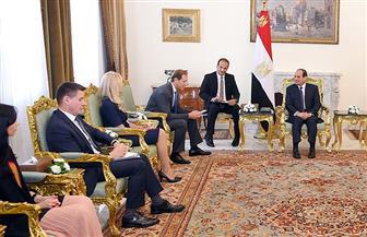 الرئيس السيسي يستقبل وزير الصناعة والتجارة الروسي