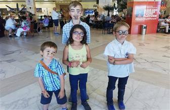 مطار أسوان يشارك الوافدين والمغادرين الاحتفال بـ«الهالوين» | صور
