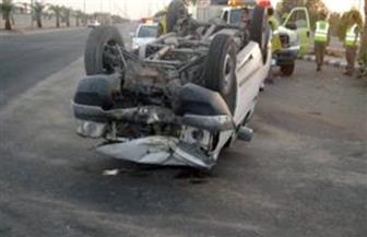 مصرع 4 شباب وإصابة خامس في حادث على طريق (قنا- سفاجا)