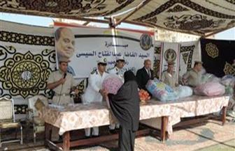 «الداخلية» توجه قوافل إنسانية لتوزيع مساعدات على المناطق الأولى بالرعاية بالجمهورية