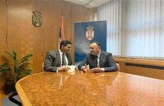 سفير مصر في بلجراد يلتقي وزير الطاقة والتعدين الصربي تحضيرا للجنة الاقتصادية المشتركة | صور