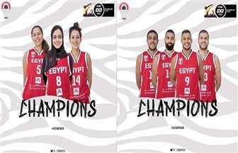 منتخب سيدات ورجال مصر أبطال إفريقيا لكرة السلة 3x3 | صور