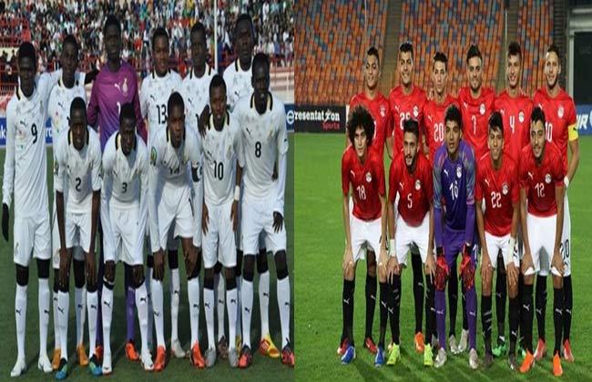 موعد مباراة مصر وغانا بأمم إفريقيا تحت 23 عاما والقنوات