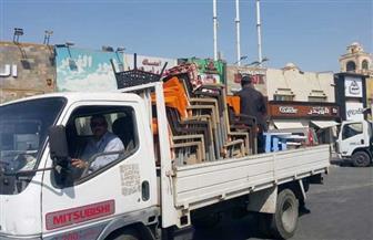 جهاز القاهرة الجديدة يواصل حملات إزالة المخالفات والإشغالات بالمدينة| صور