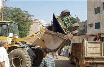 استمرار حملات رفع الإشغالات بمراكز سوهاج وتحرير 110 محاضر  صور