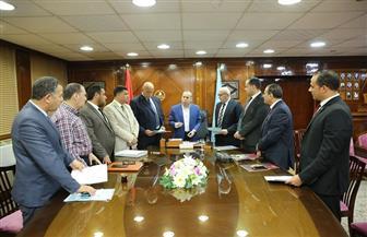 توقيع بروتوكول لإقامة وحدة مصرفية بمنطقة مطوبس الصناعية لخدمة المستثمرين | صور