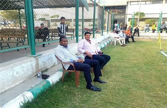 ربيع ياسين يتابع مباراة الأهلي والمقاولون العرب