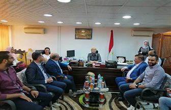 رئيسة مدينة سفاجا تستقبل أساتذة وطلاب كلية الفنون الجميلة جامعة الإسكندرية   صور
