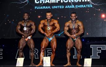 نتائج متميزة لكمال الأجسام ببطولة العالم في الإمارات