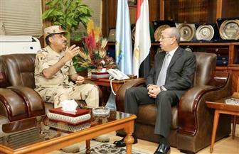 محافظ كفر الشيخ يستقبل رئيس مجلس إدارة الشركة المصرية للرمال السوداء | صور