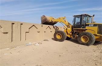 استرداد 7 آلاف متر من أراضي الدولة خلال حملة إزالة برأس غارب | صور