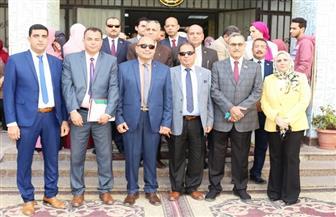 افتتاح الملتقى التوظيفي الأول بتجارة جامعة المنصورة| صور