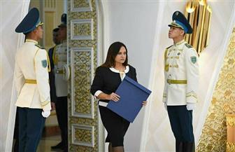 سفيرة مصر لدى كازاخستان تتقدم بأوراق اعتمادها | صور