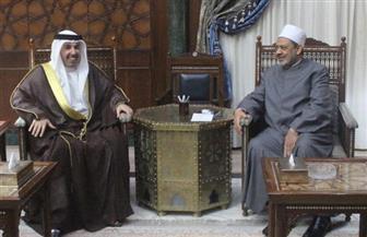شيخ الأزهر يستقبل السفير البحريني المنتهية مدته بالقاهرة| صور