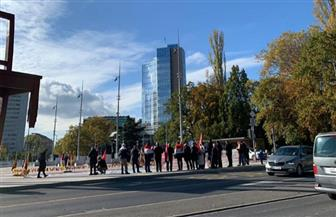 فشل مظاهرة لجماعة الإخوان الإرهابية أمام مبنى الأمم المتحدة بجنيف   صور