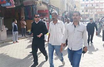 أمن أسوان يرفع 130 حالة إشغال من السوق السياحي