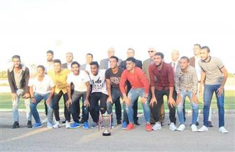 الاتحاد الرياضي للجامعات يكرم فريق جامعة طنطا لكرة القدم
