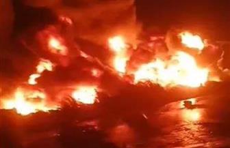 «البترول»: حريق إيتاي البارود نتج عن محاولة سرقة لخط منتجات بترولية